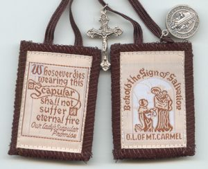 The Brown Scapular given to St. Simon Stock