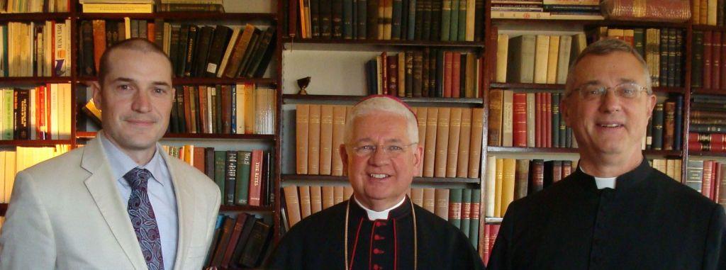(L to R) Nicholas Wansbutter, His Lordship, Bishop Daniel Dolan, Father Anthony Cekada